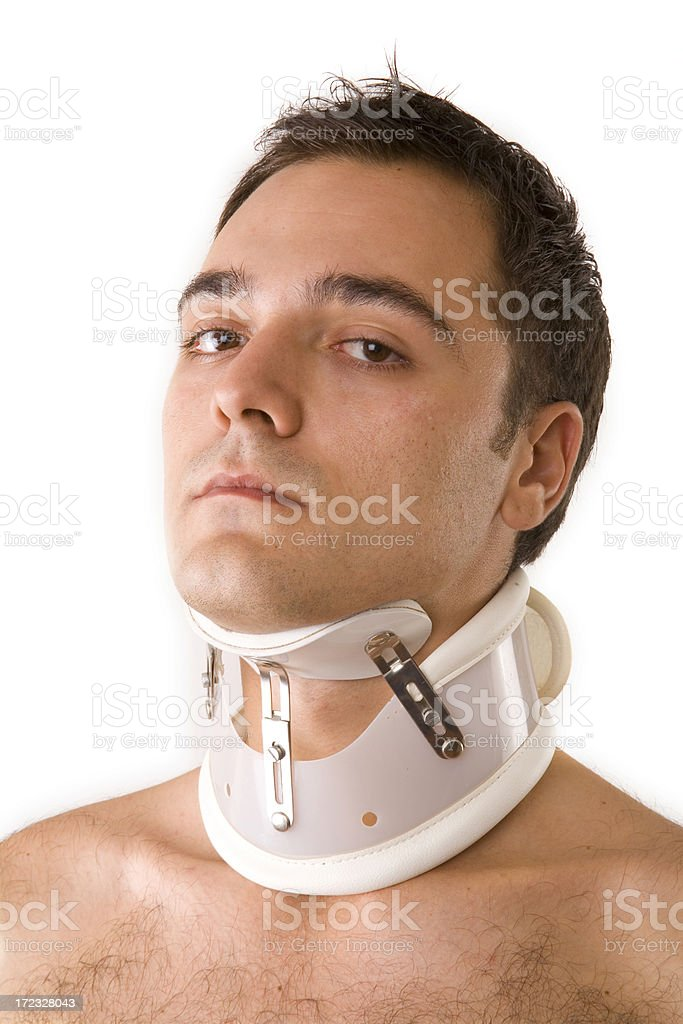 cervical collar royalty-free stock photo
