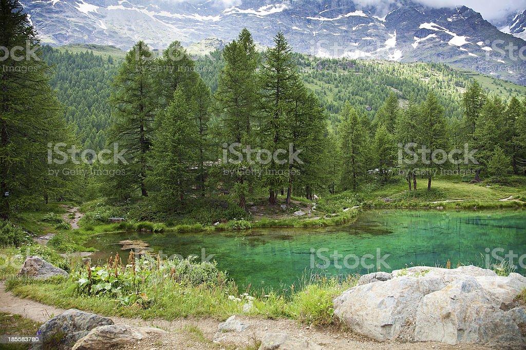 Cervinia, Valle d'Aosta, Italy stock photo