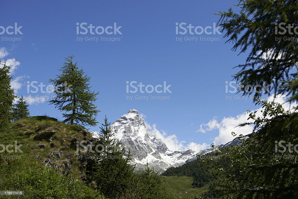 Cervino during Summer royalty-free stock photo