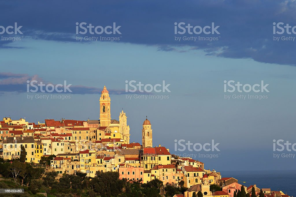 Cervo old town, Italy royalty-free stock photo