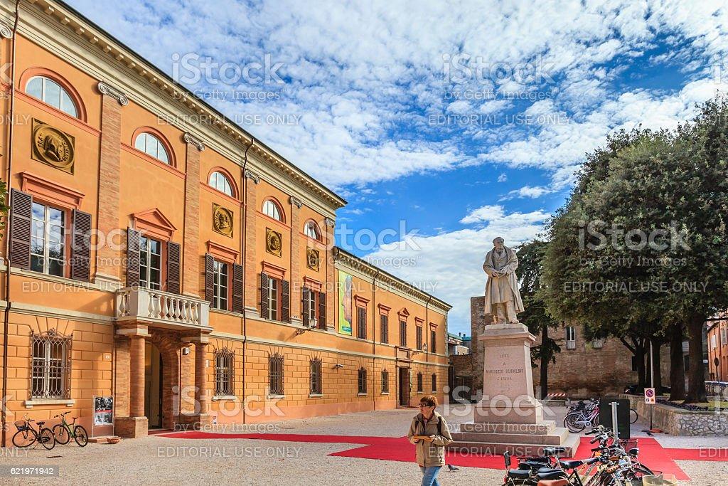 Cesena, the Malatestiana Library - Italy stock photo