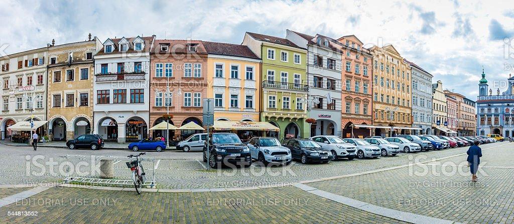 Ceske Budejovice, Ottokar II Square stock photo