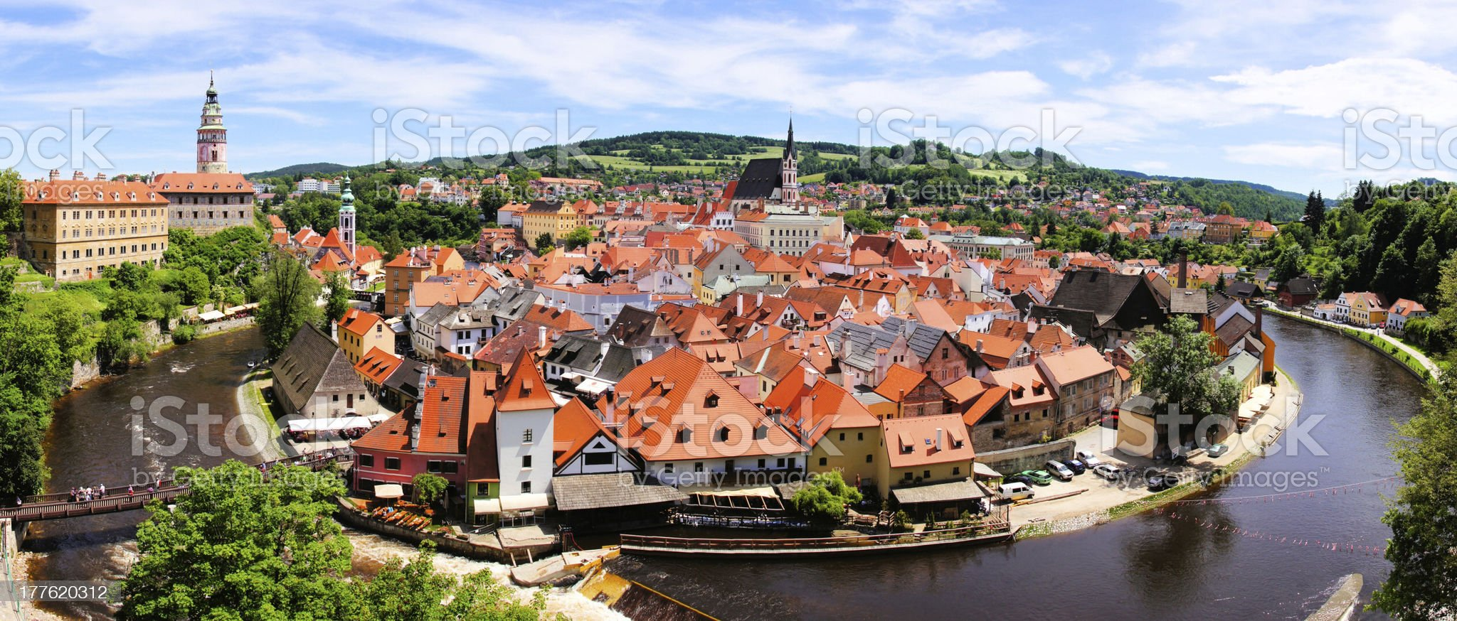 Cesky Krumlov panorama royalty-free stock photo