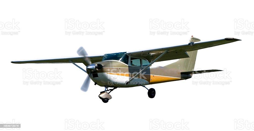 Cesna airplane isolated on white stock photo