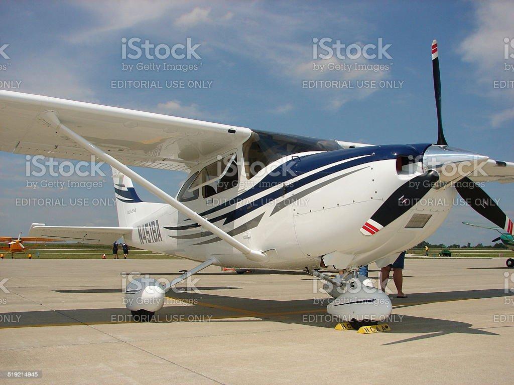 2005 Cessna 182 Turbo Skylane business airplane. stock photo