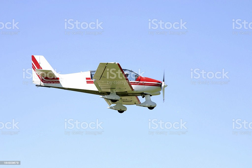Cessna about to land royalty-free stock photo