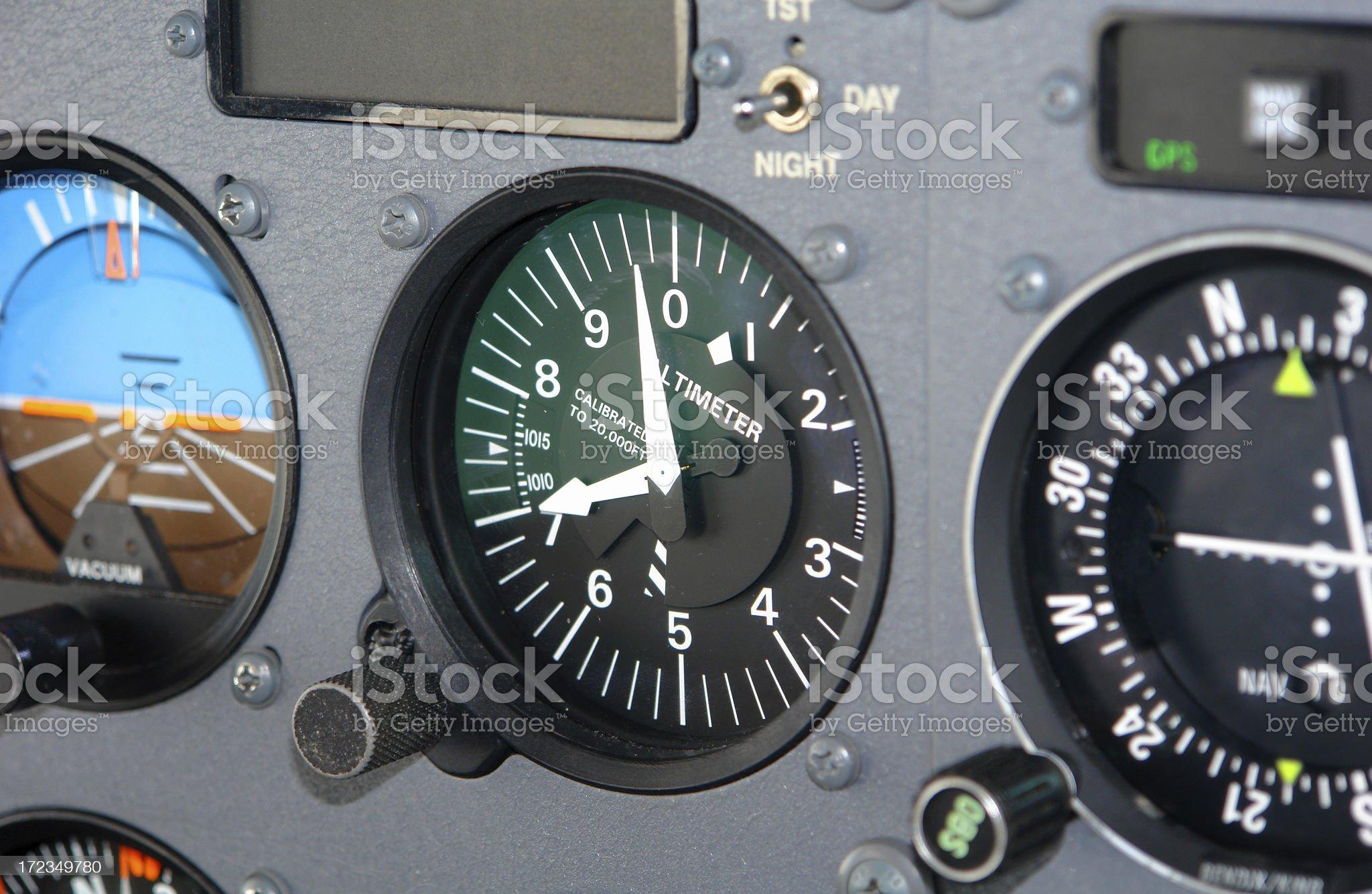 Cessna Cockpit royalty-free stock photo