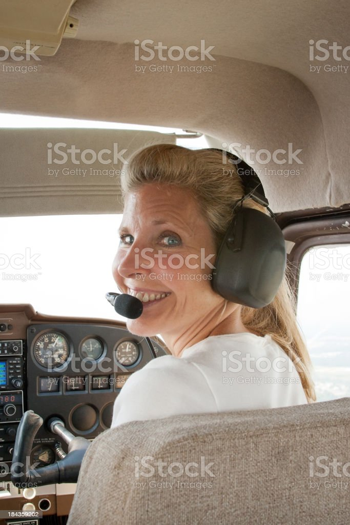 Cessna Co-Pilot stock photo