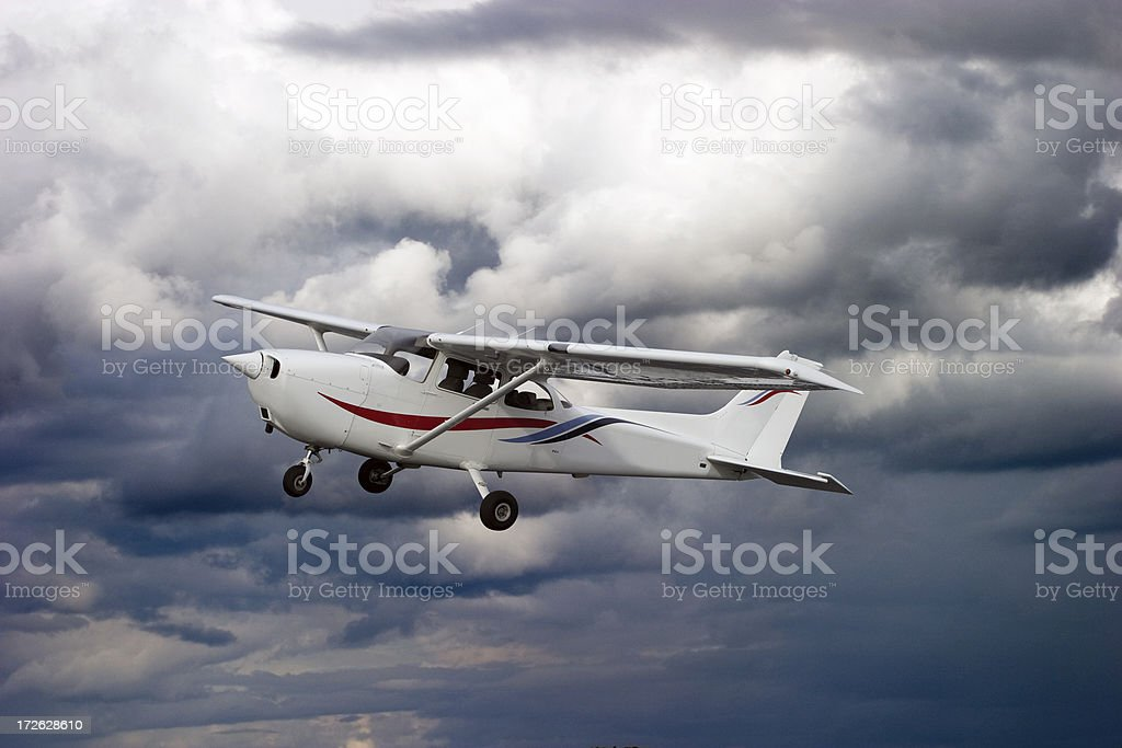 Cessna in the sky royalty-free stock photo