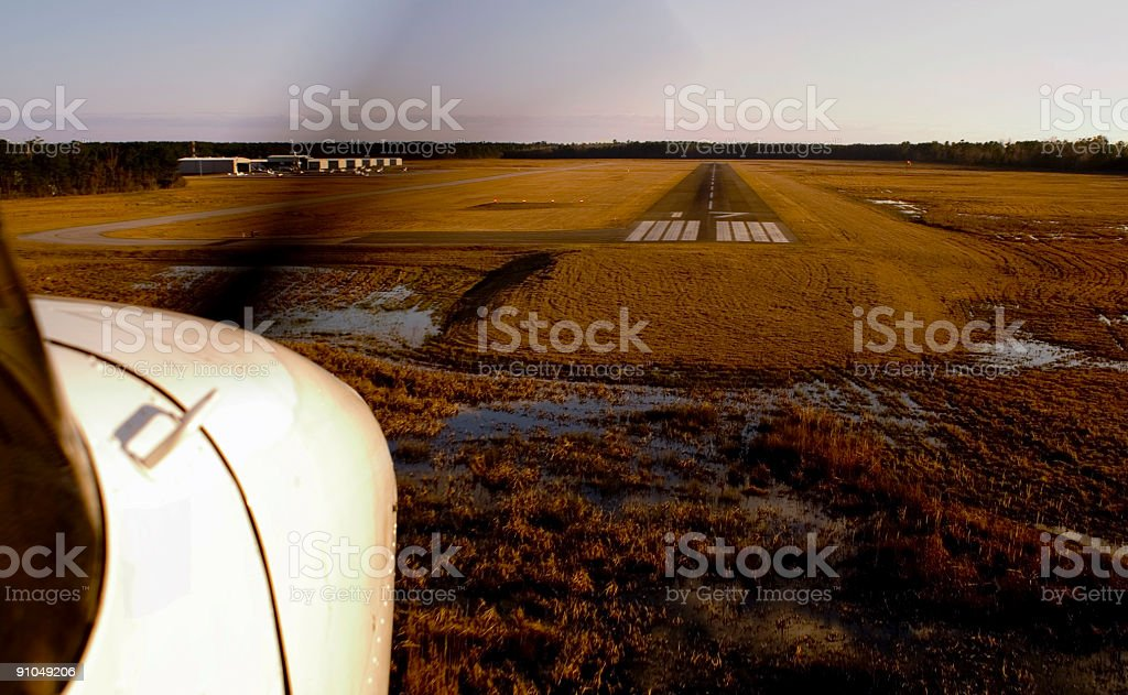 Cessna-march landing. stock photo
