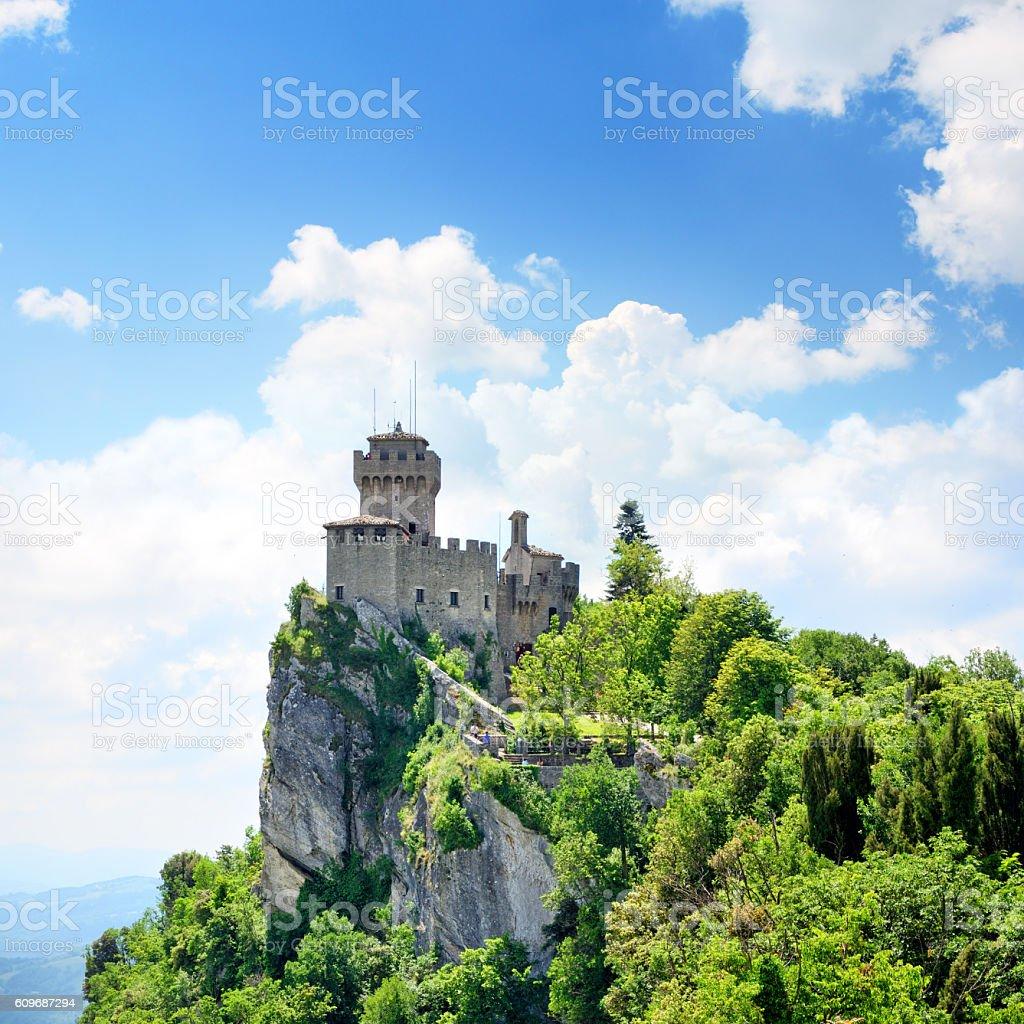 Cesta tower, San Marino stock photo