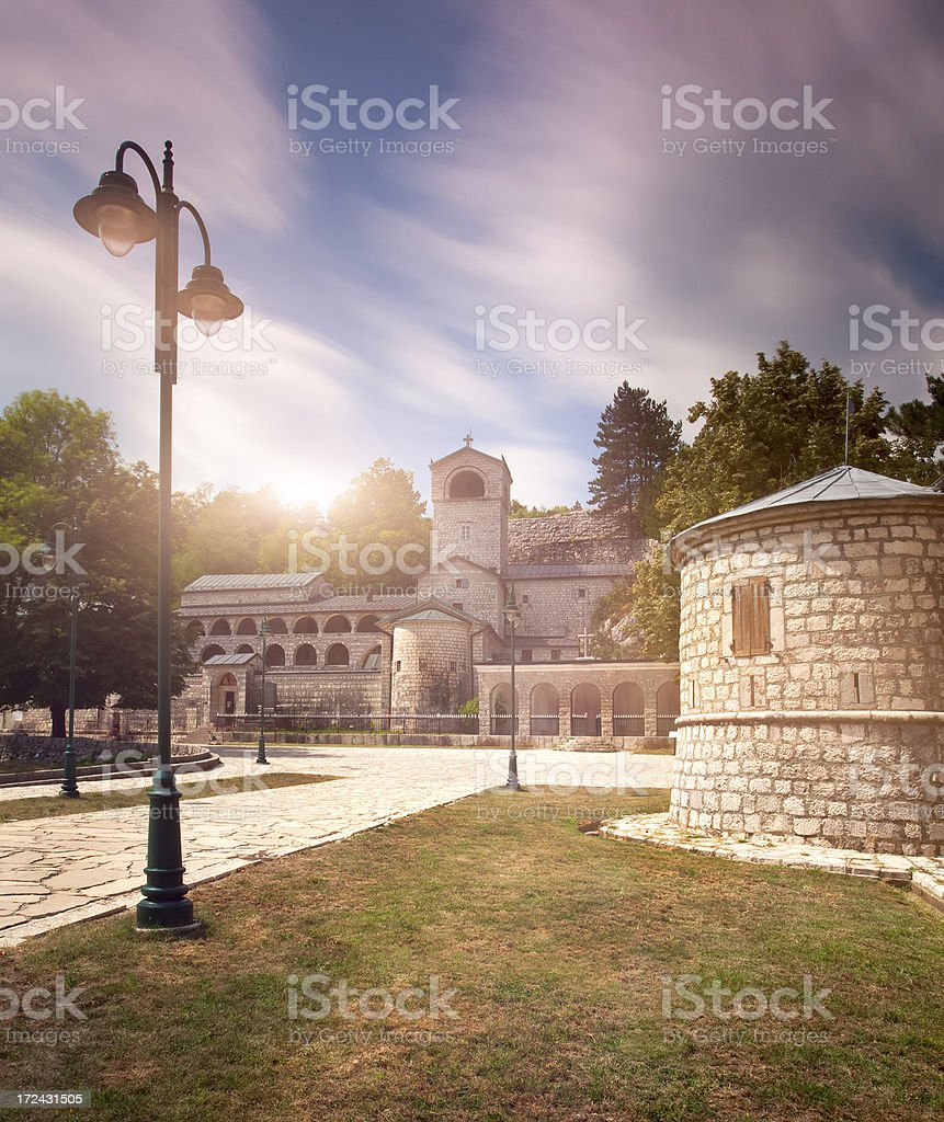 Cetinje  monastery in Montenegro royalty-free stock photo