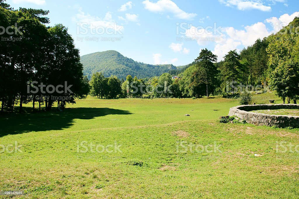 Cetinje, Montenegro. City view. Town view. stock photo