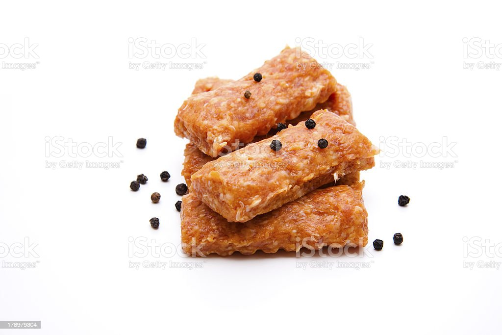 Cevapcici with pepper grain royalty-free stock photo