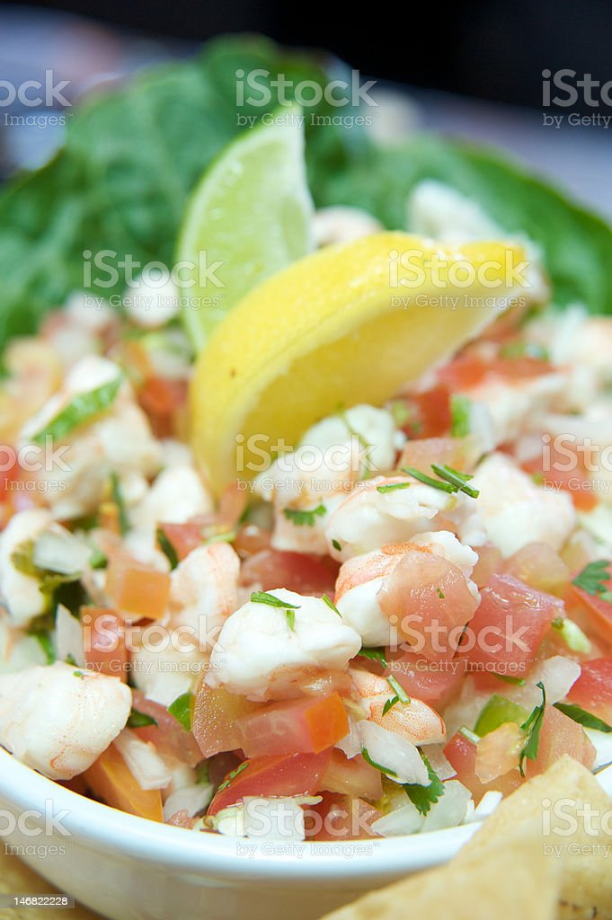 Ceviche Close up stock photo