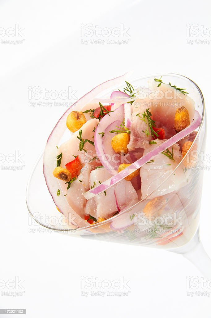 Ceviche Gourmet stock photo