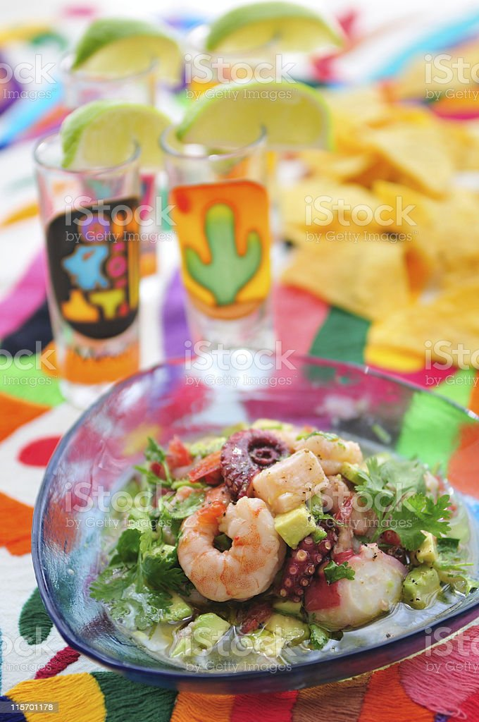 Ceviche Party royalty-free stock photo