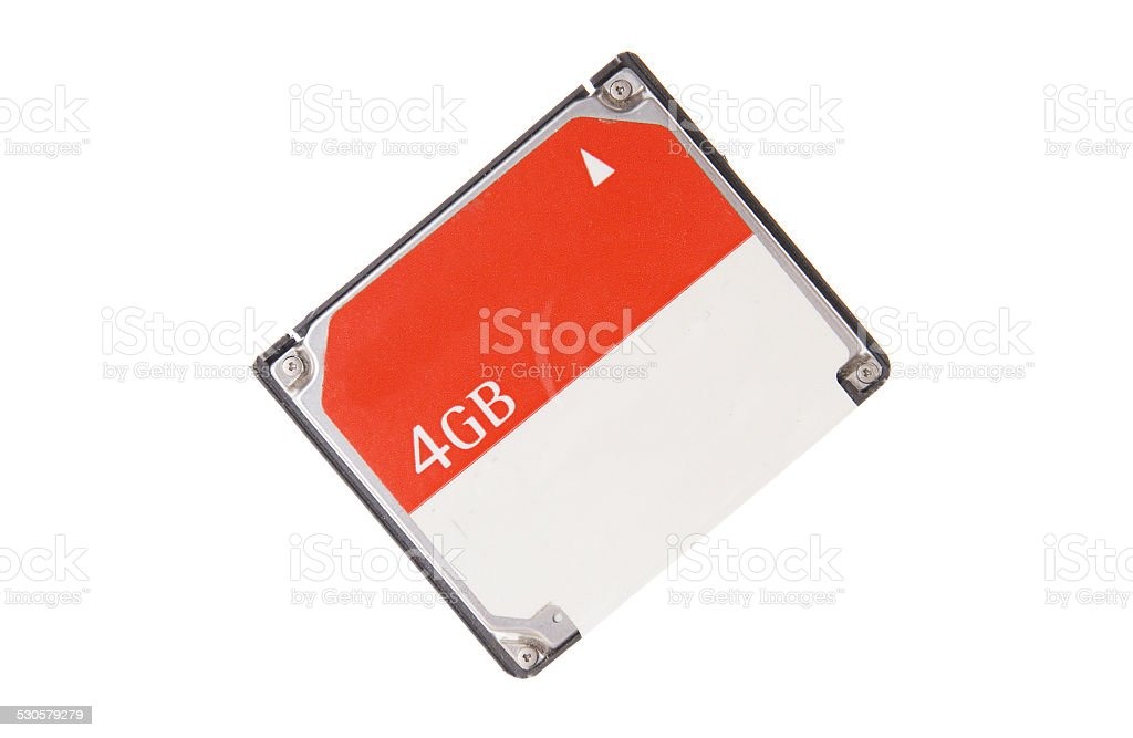 cf memory for camera computer compact flash isolated stock photo