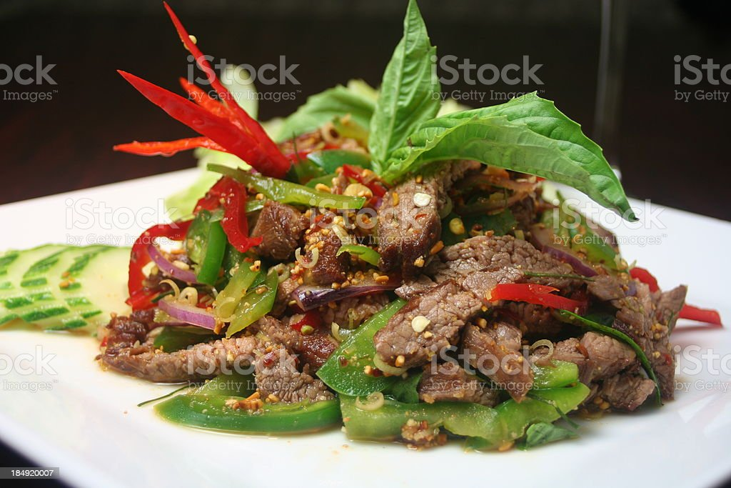 Cha Krung (Spicy Beef) stock photo