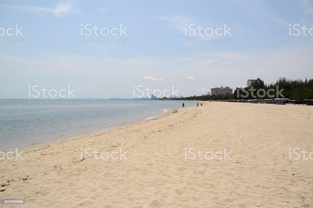 Cha-Am beach, Thailand stock photo