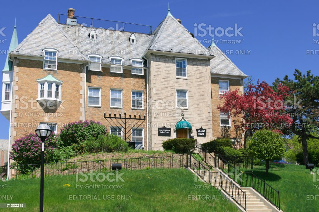 Chabad House at University of Michigan, Ann Arbor. stock photo