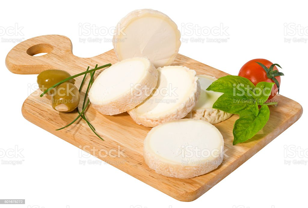 Chabichou hand-made goat cheese stock photo