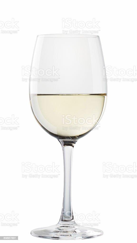 Chablis wine glass isolated on white background royalty-free stock photo