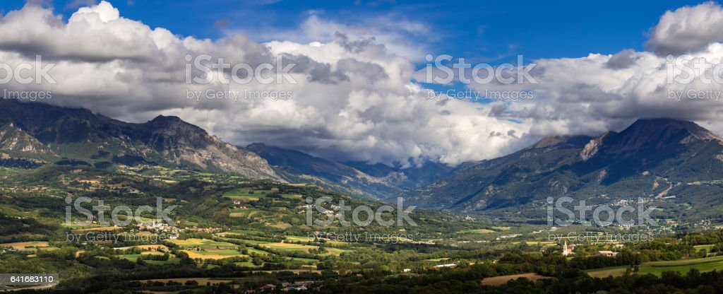 Chabotte Plain in the Champsaur Valley, French Alps, France stock photo