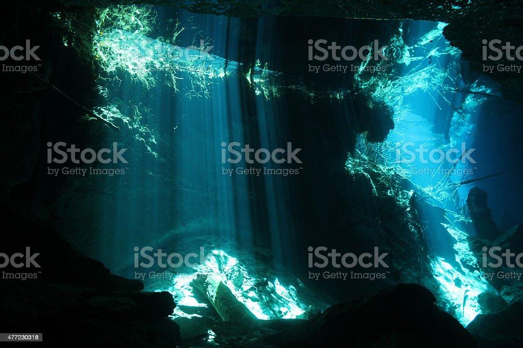 Chac Mool Cenote stock photo