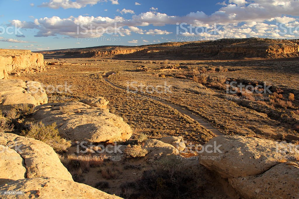 Chaco Canyon Auto Tour stock photo