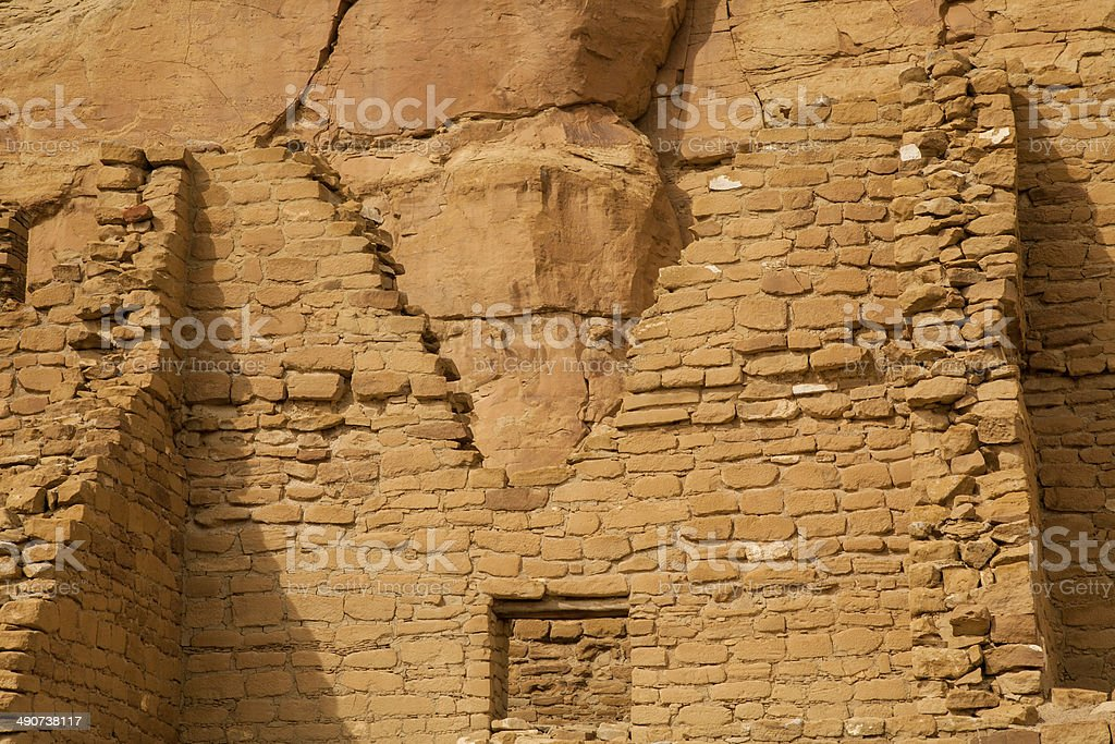 Chaco Canyon in New Mexico inhabited between 850-1250 AD stock photo