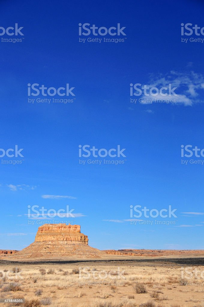 Chaco Canyon National Historical Park, New Mexico, USA: Fajada Butte stock photo