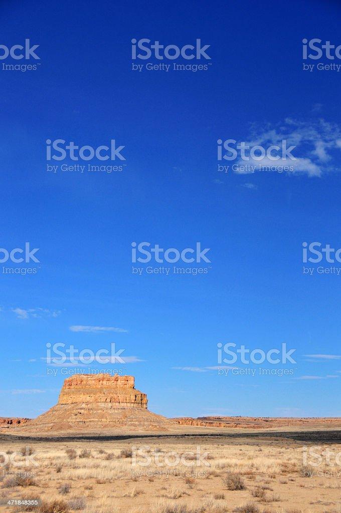 Chaco Canyon National Historical Park, New Mexico, USA: Fajada Butte stock photo