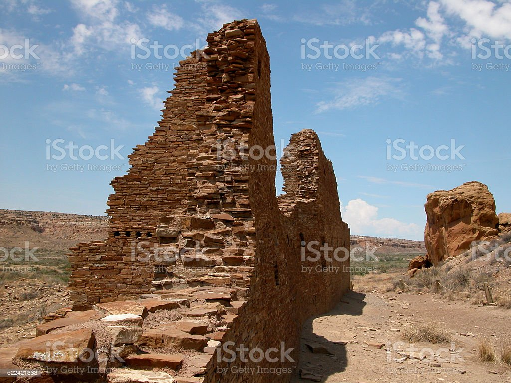 Chaco Canyon Pueblo Ruins stock photo