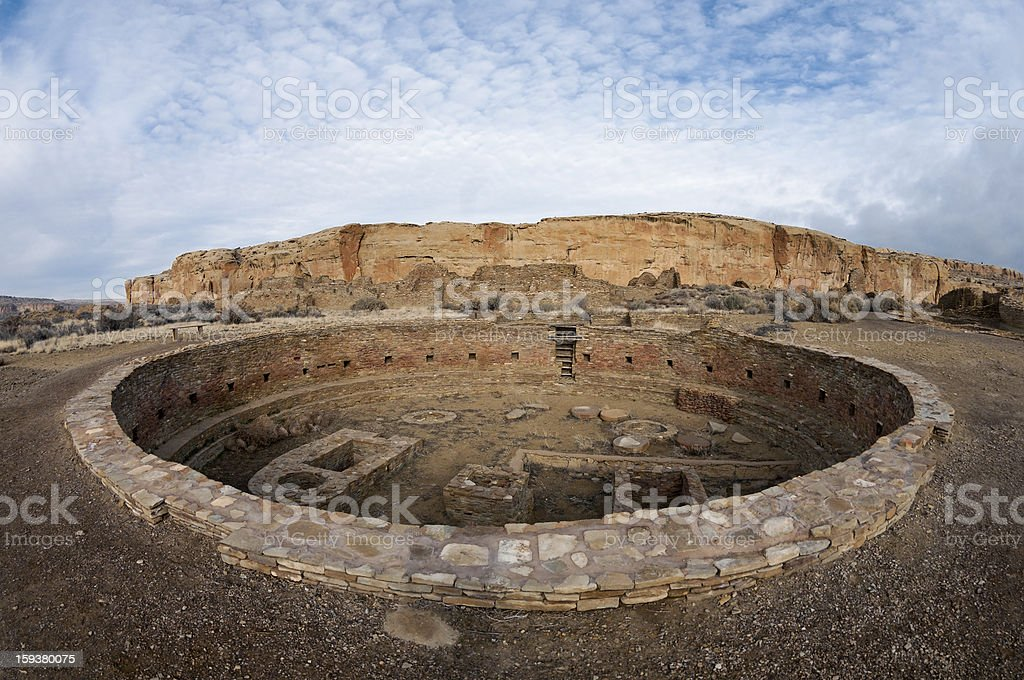 Chaco Culture National Park stock photo