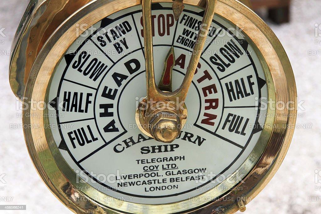 Chadburns Ships Engine Order Telegraph stock photo