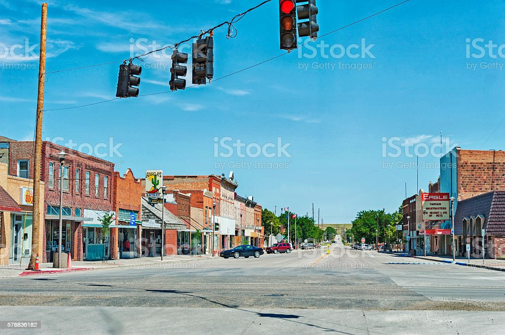 Chadron Nebraska Main Street views stock photo