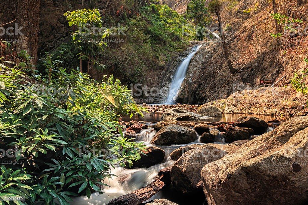Chae Son Waterfall stock photo