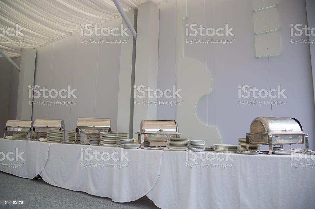 chafing dish. buffet stock photo