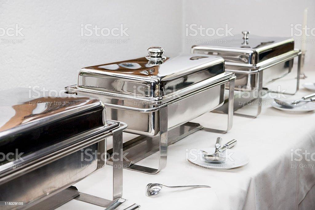 chafing dish stock photo