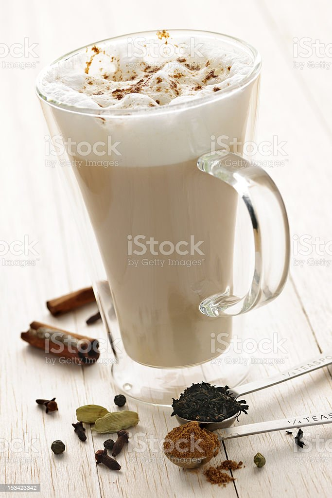 Chai Latte drink stock photo