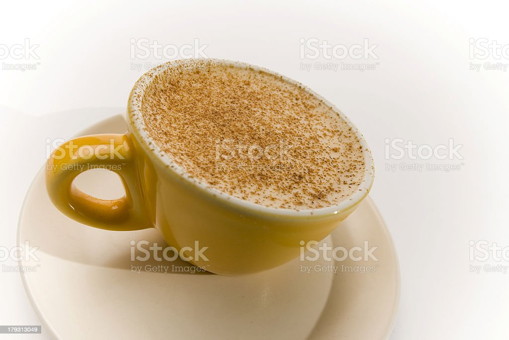 Chai Latte Yellow Cup Series 1 royalty-free stock photo