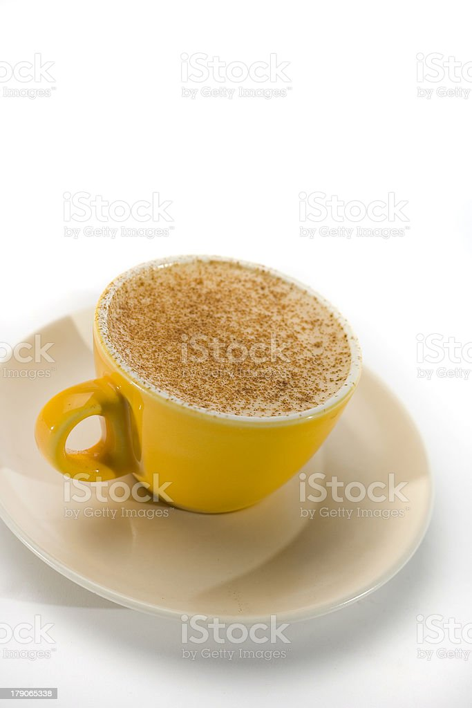 Chai Latte Yellow Cup Series 2 royalty-free stock photo