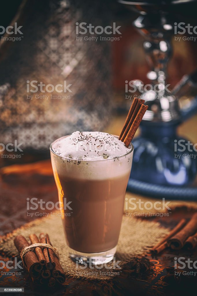 Chai Tea Latte stock photo