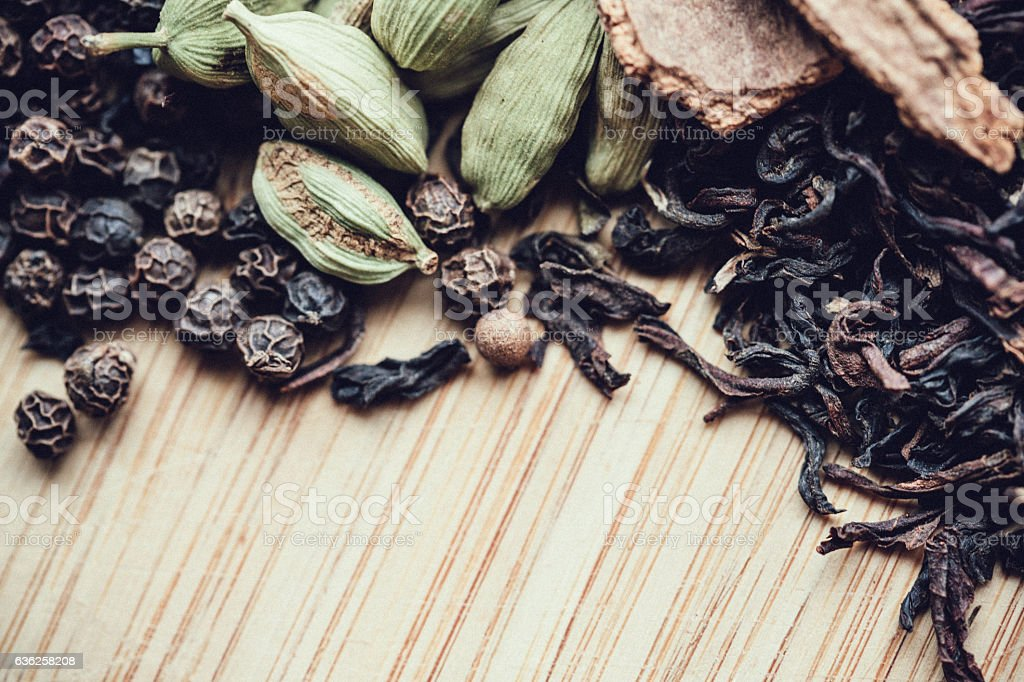 Chai Tea Spices stock photo