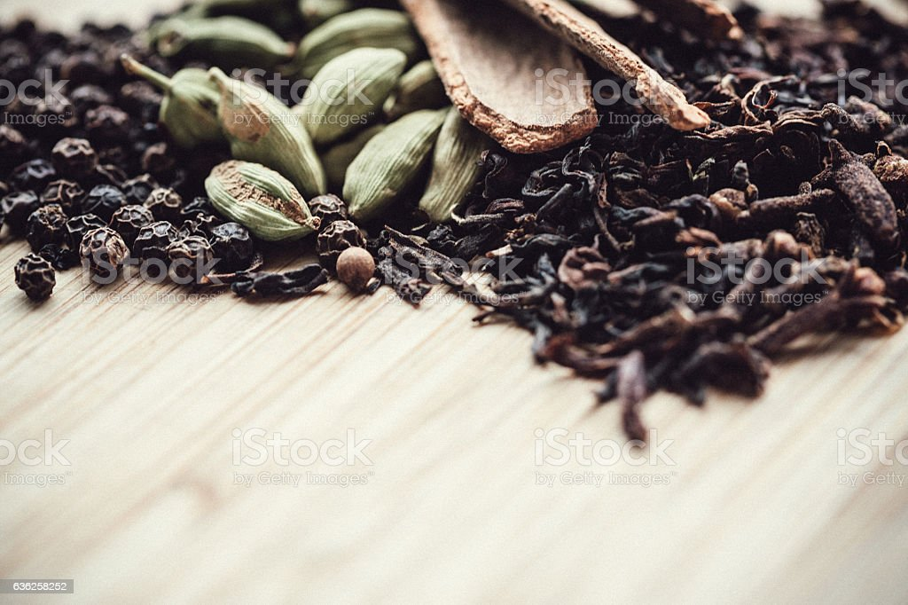 Chai Tea Spices stock photo