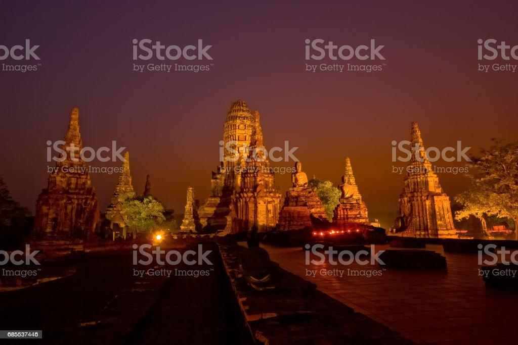 Chai Watthanaram Temple stock photo
