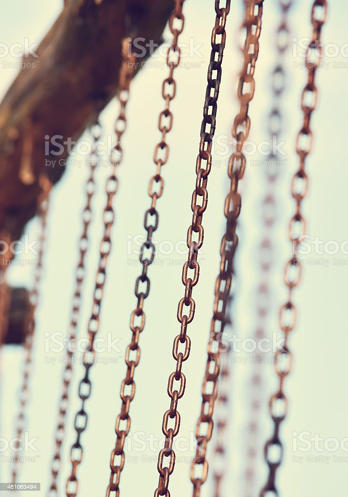Chain abstract composition stock photo