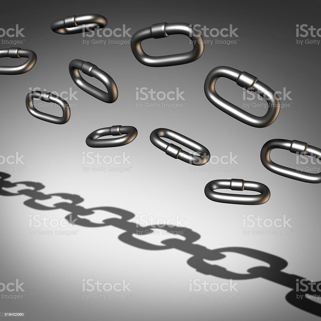Chain Abstract stock photo
