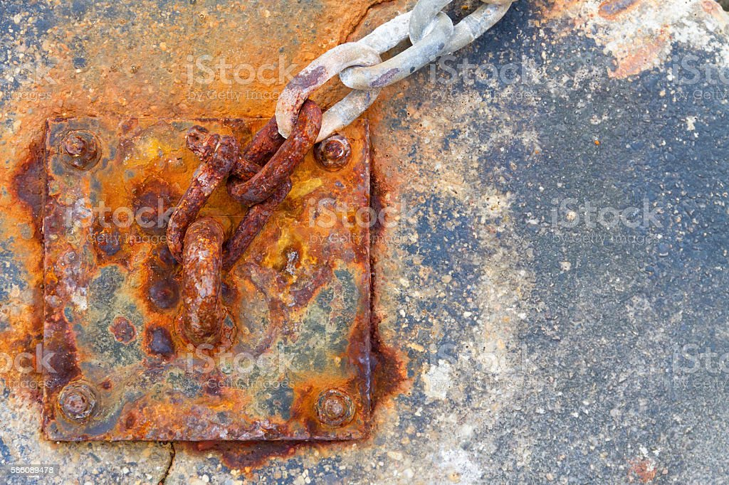 Chain Anchor and Rust stock photo